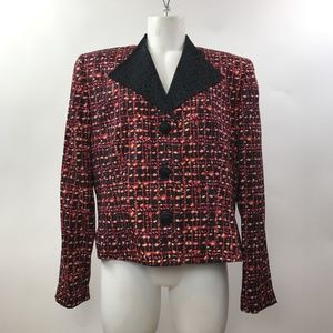 Women's Shomi Size 14 MultiColored Fitted Jacket.